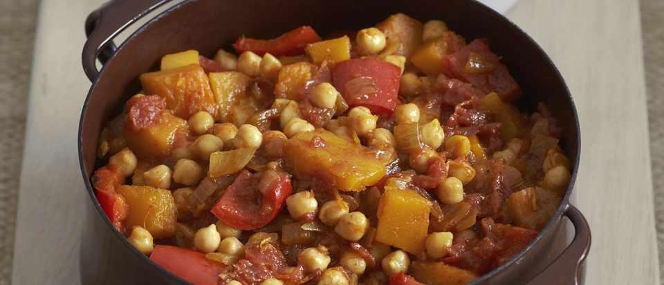 Chickpea and tomato tagine