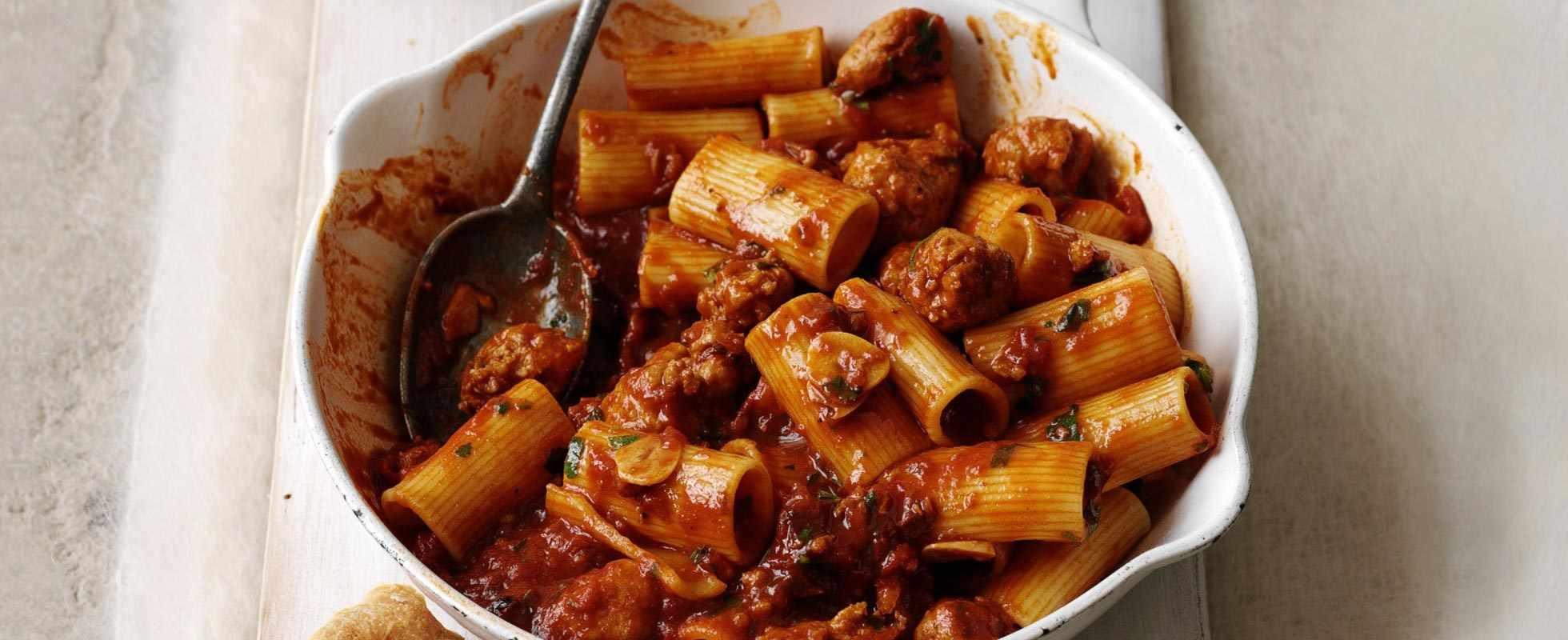 Smoky sausage ragu pasta