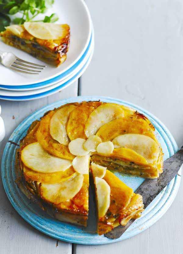 Potato, squash and sage pie