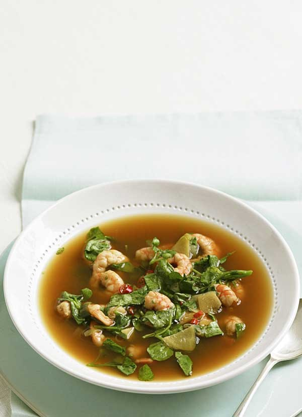 Watercress and Prawn Broth