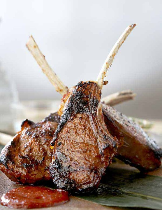 lamb cutlets with Korean spices