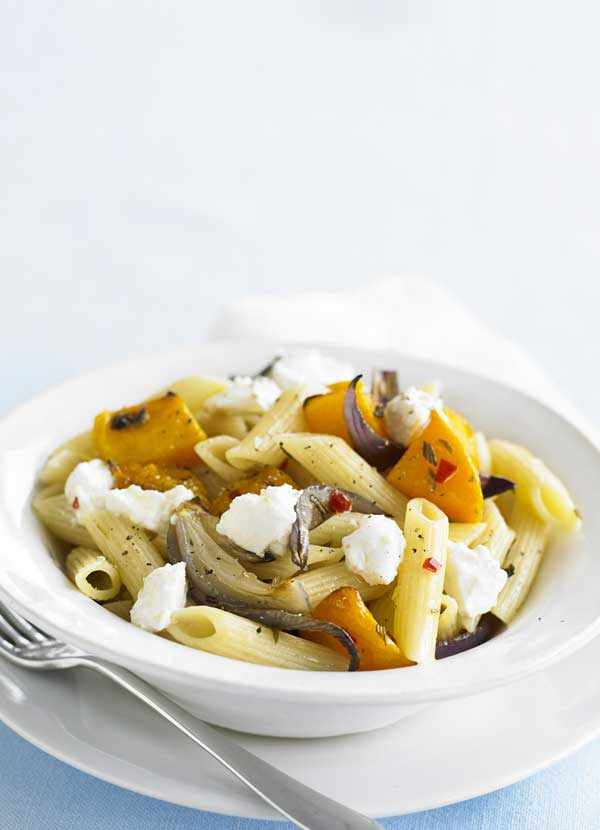 Roasted Squash and Ricotta Penne Pasta Recipe