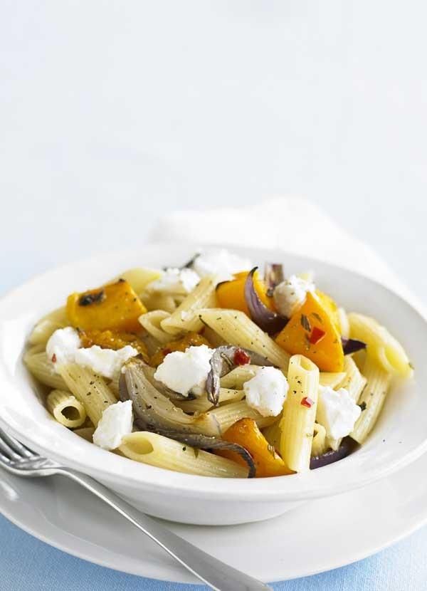 Roasted Squash and Ricotta Penne Pasta Recipe