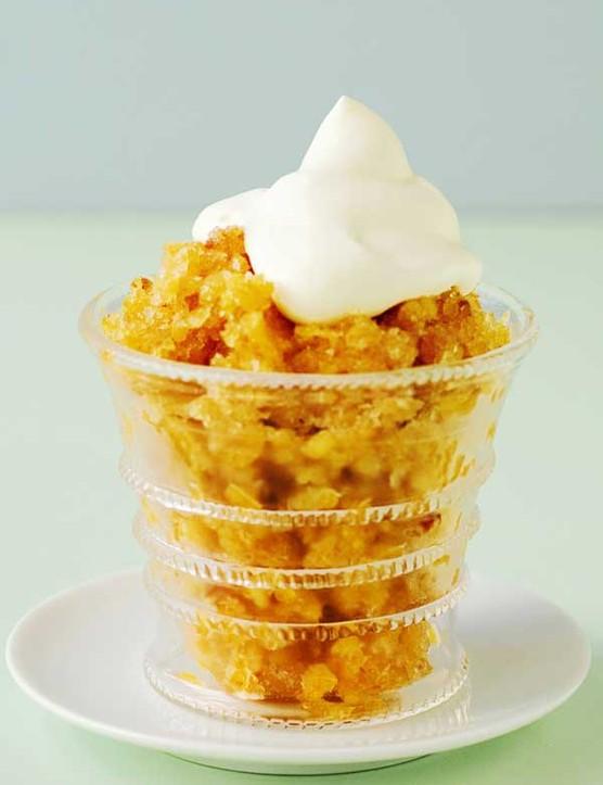 Cremolata Recipe with Peaches