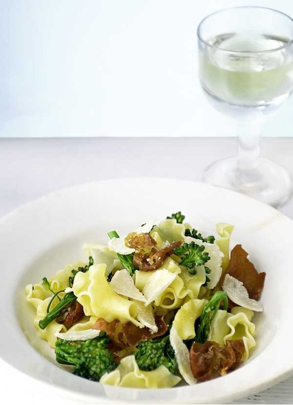 Fiorelli Pasta Recipe with Broccoli and Crisp Prosciutto