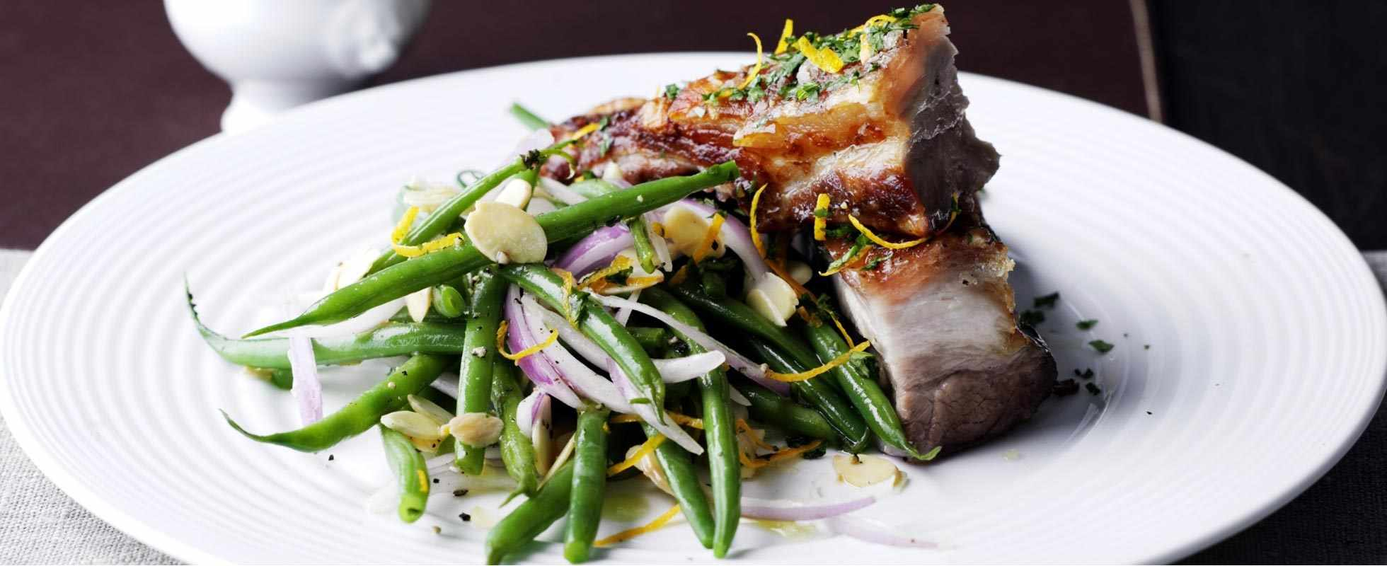 pork belly with green beans