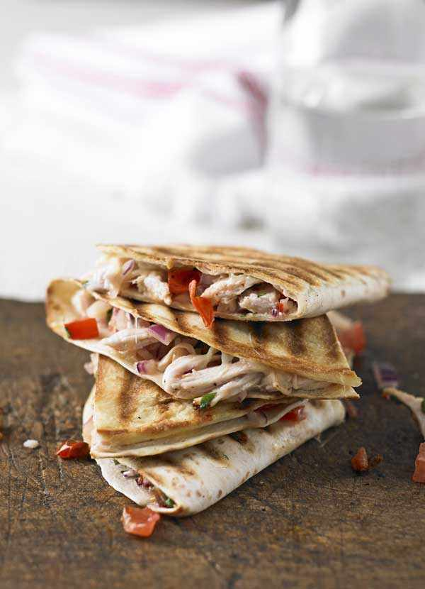 Shredded Turkey Quesadillas Recipe