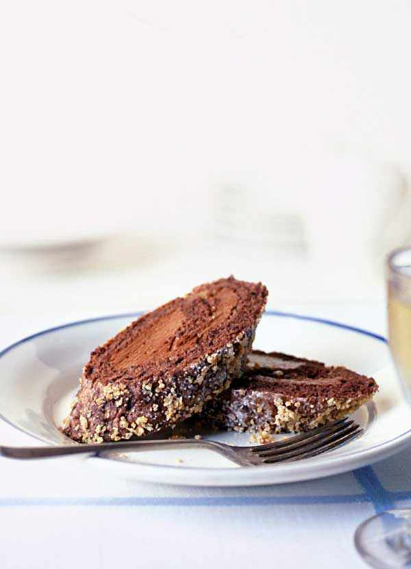 Chocolate Roulade Recipe with Hazelnuts