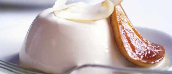 Coconut Panna Cotta Recipe With Caramelised Mango