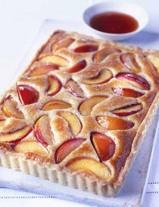 Almond Tart Recipe with Peaches