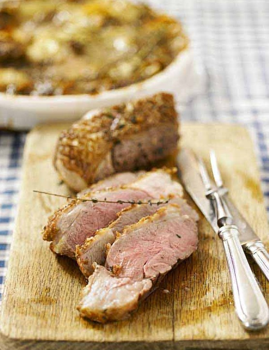 Thyme roasted lamb