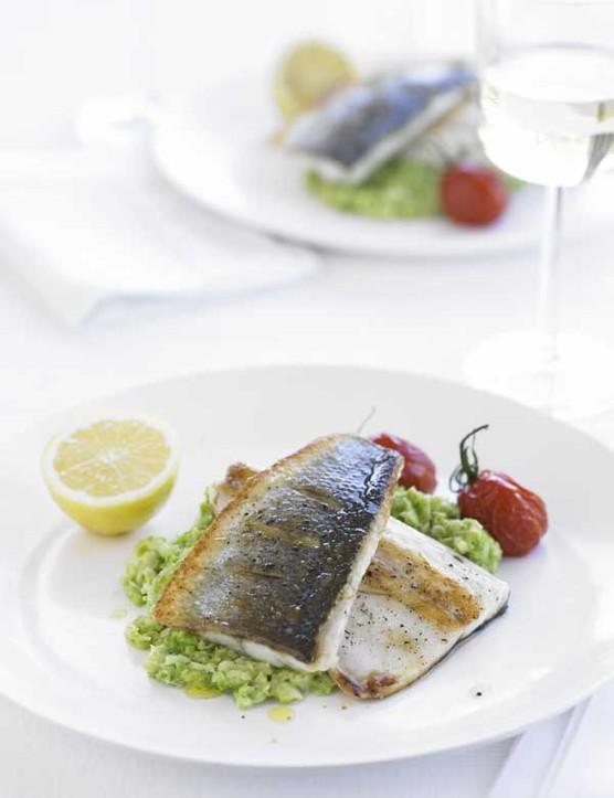 Sea Bass Recipe with Broad Bean Mash