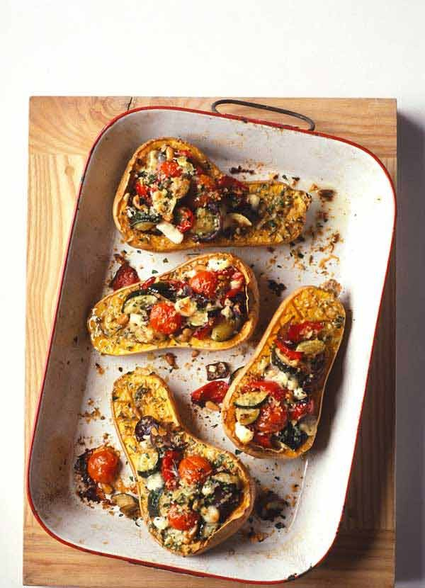 Roasted Butternut Squash Recipe with Goat's Cheese