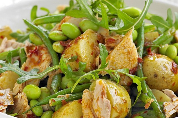 Edamame, Potato and Tuna Salad Recipe