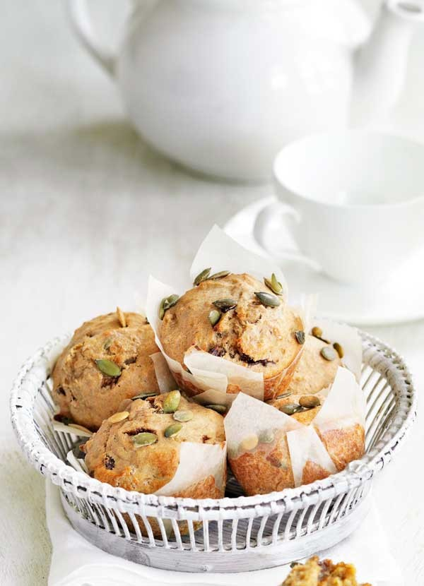 Banana and pumpkin seed muffins