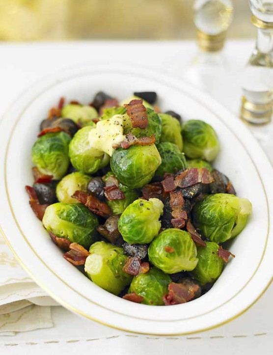 Sprouts With Chestnuts and Bacon Recipe