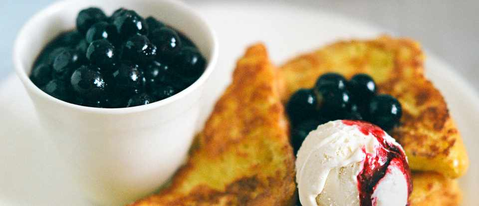 Brioche French Toast Recipe With Blueberry Compote