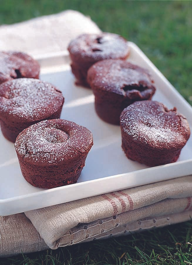 Raspberry and Chocolate Brownie Cakes Recipe