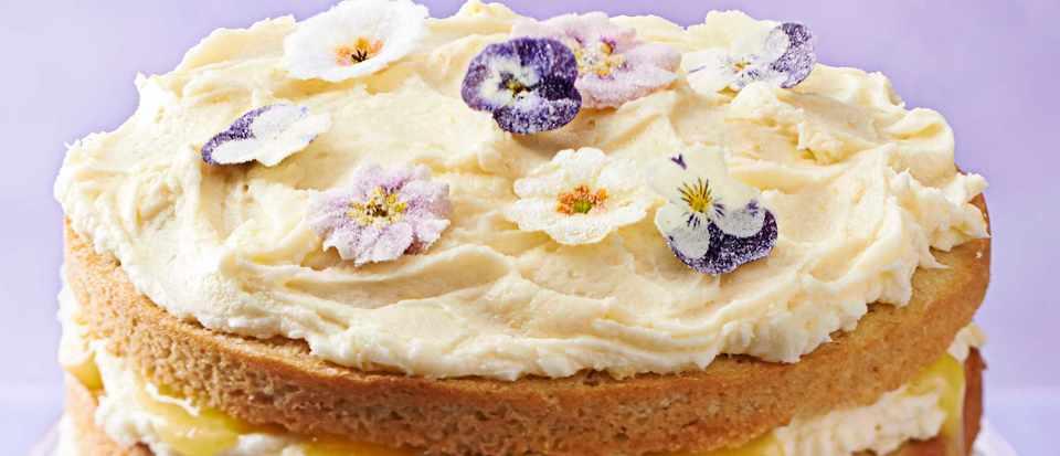 Sponge Cake Recipe Lemon Curd: Lemon Layer Cake With Lemon Curd