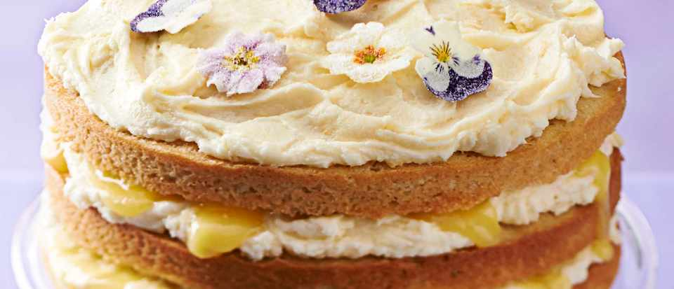 Cool Lemon Layer Cake With Lemon Curd Olivemagazine Personalised Birthday Cards Cominlily Jamesorg