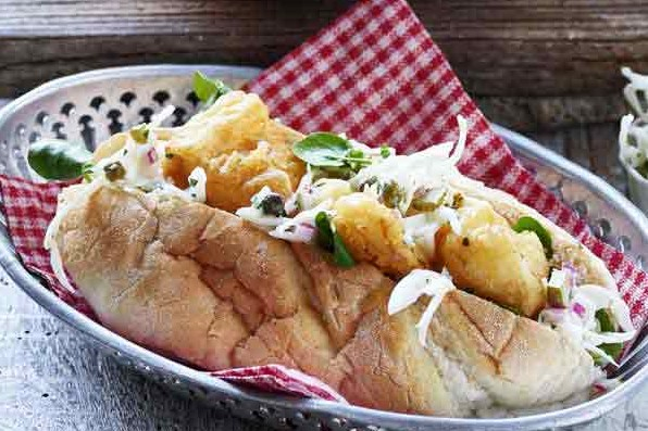 New England Fried Fish Sandwich Recipe With Tartare Slaw
