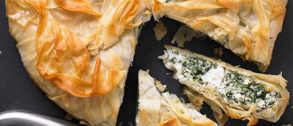 Spinach and Ricotta Vegetarian Filo Pastry Pie Recipe