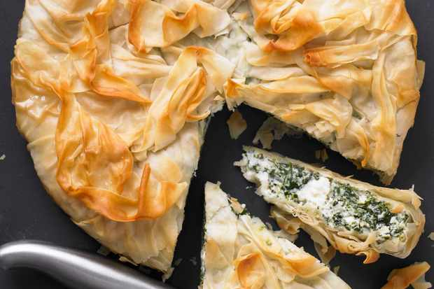 Spinach and Ricotta Vegetarian Filo Pastry Pie Recipe