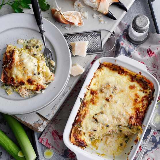 Leek and Crab Lasagne Recipe
