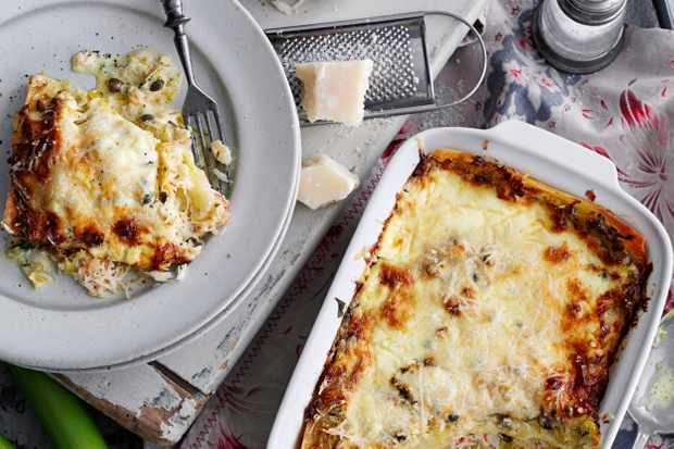 Leek and Crab Lasagne Recipe