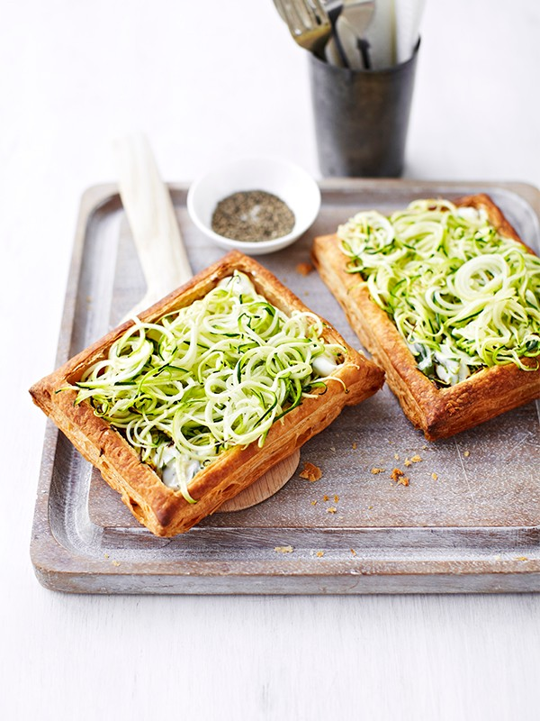 Spiralized Zucchini Tart Recipe With Ricotta and Tarragon