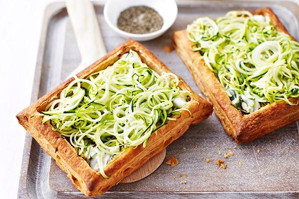 Spiralized Zucchini Tart Recipe With Ricotta and Tarragon
