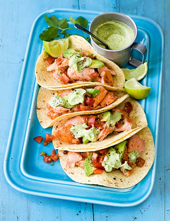 Salmon Tacos Recipe with Avocado