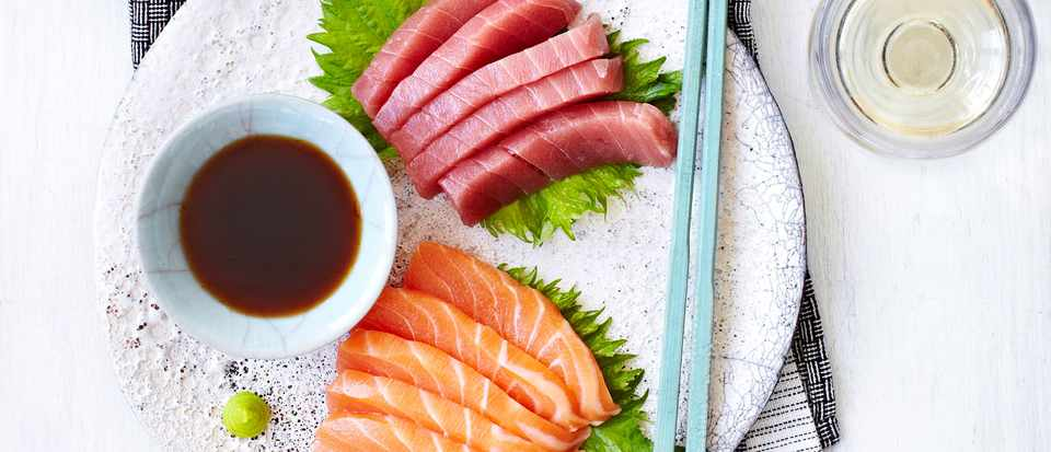 What wine to drink with sashimi - olivemagazine
