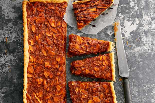 Caramel Almond Tart Recipe