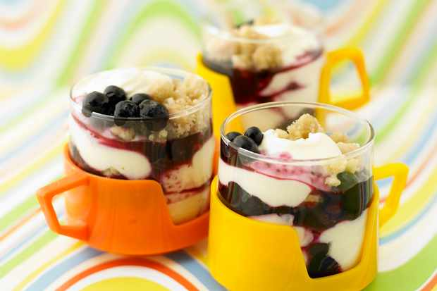 Lime and Blueberry Individual Dessert Recipe
