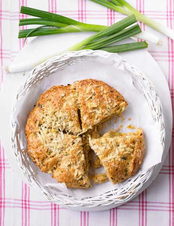 Cheese and Onion Scone Cake Recipe