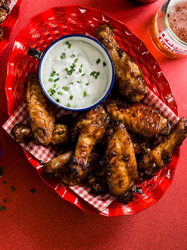 Sticky Wings Recipe With Blue Cheese Dip