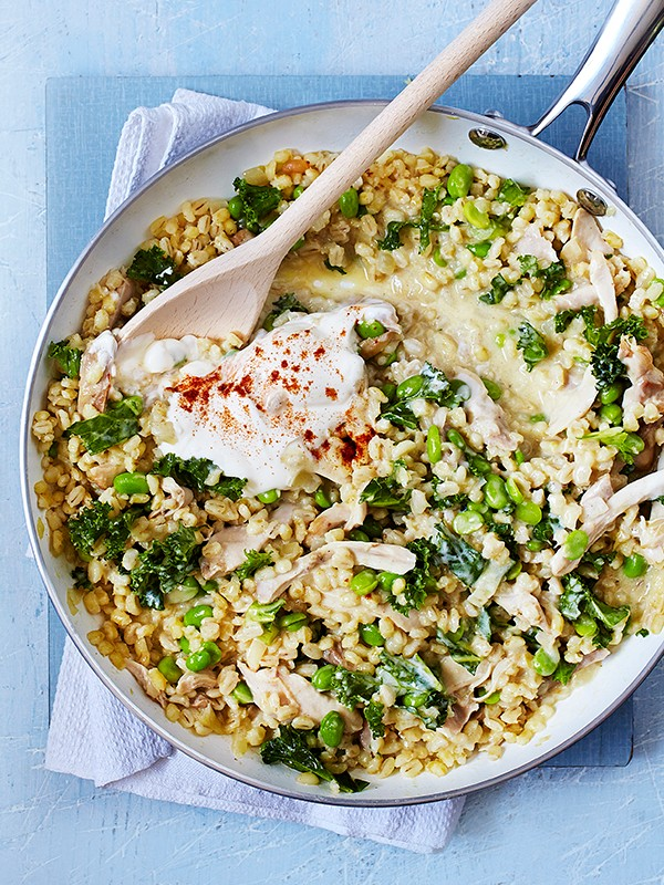 Chicken Risotto Recipe with Kale