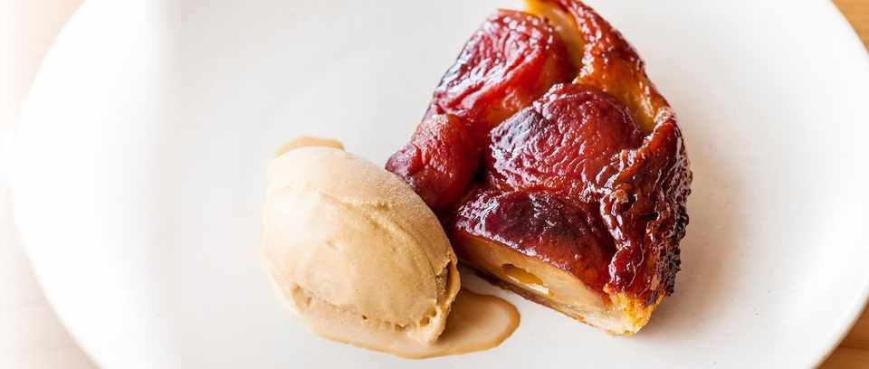 Spiced apple tarte tatin