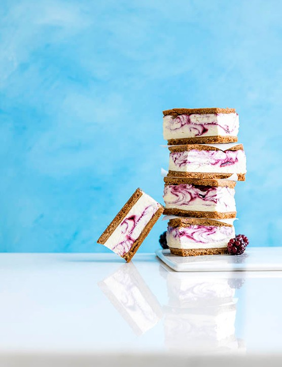 Ice Cream Sandwich Recipe with Blackberry