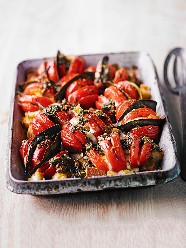 Roasted Tomatoes Recipe with Mozzarella