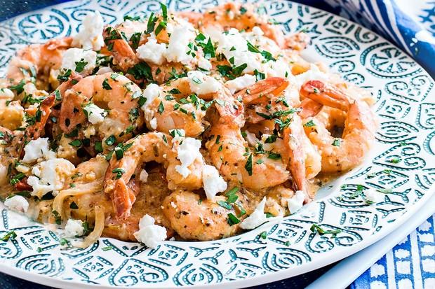 Shrimps à la spetsiota