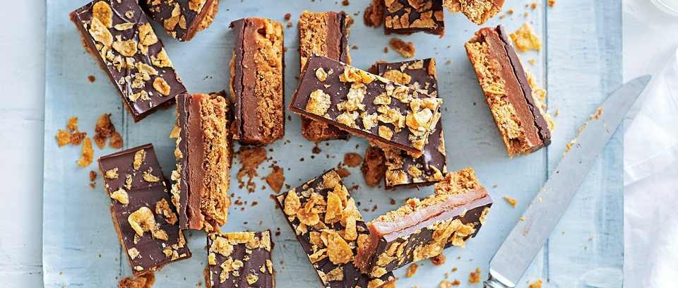 Honey nut cornflake and caramel bars