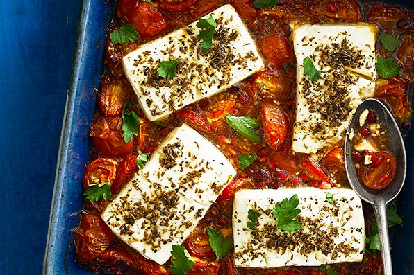 Baked Feta Cheese Recipe with Tomatoes
