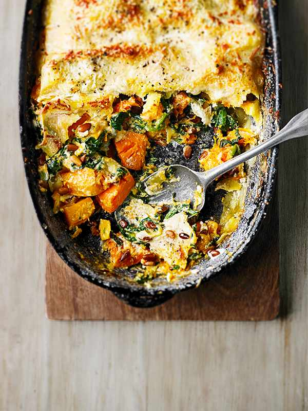 Butternut Squash Lasagne Recipe With Spinach and Mascarpone