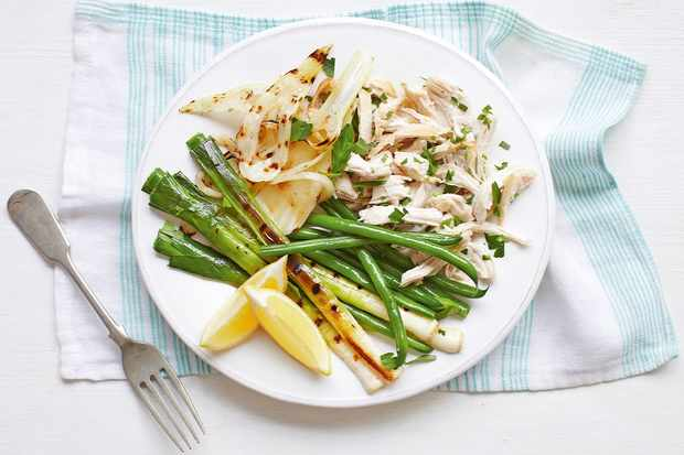 Lemon Chicken With Leeks and Green Beans