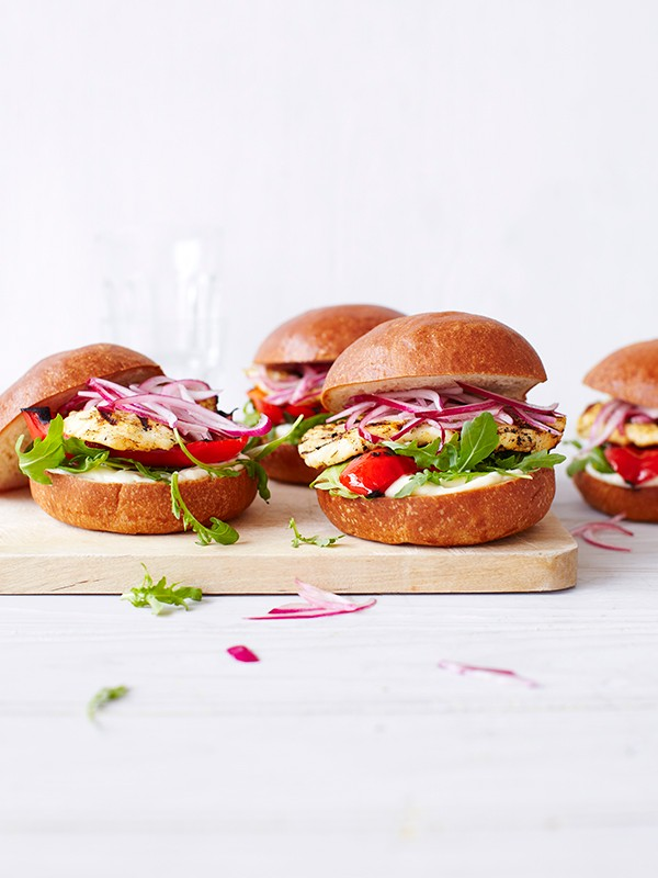 Veggie Burger Recipe For Jerk Halloumi Burgers