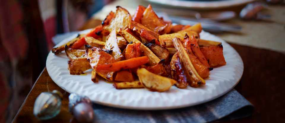 Roast Roots Recipe With Pomegranate Molasses