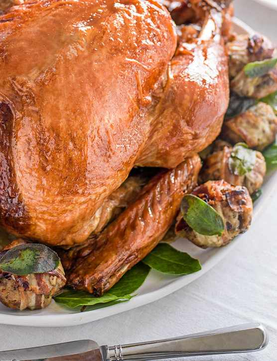 Turkey Recipe with a Maple and Bourbon Glaze