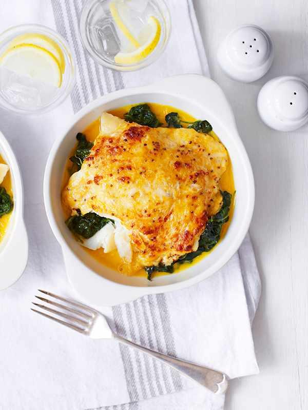 Smoked Haddock Rarebit Recipe with Spinach